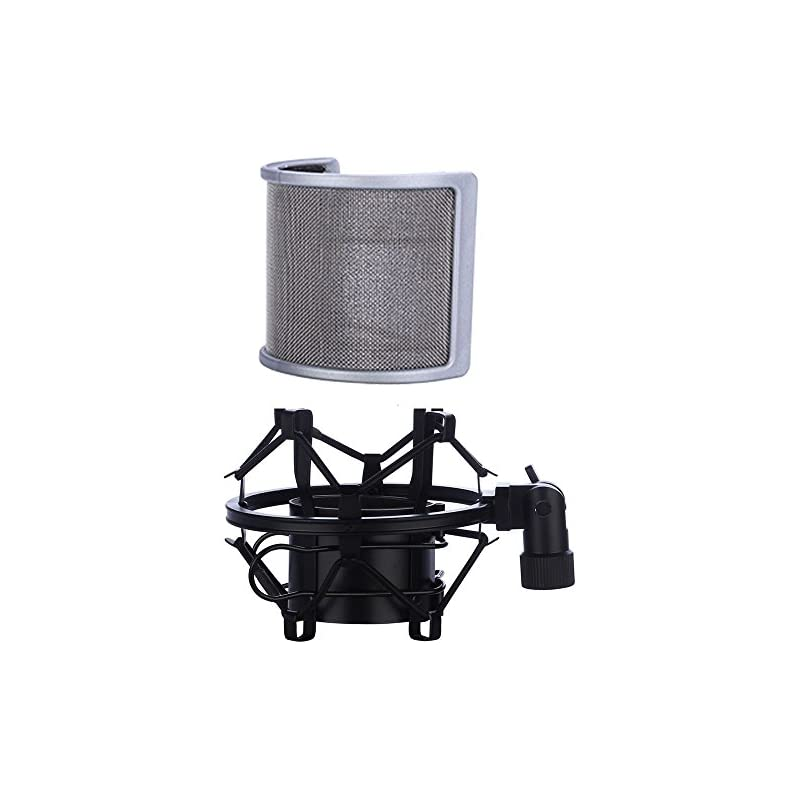 Microphone Shock Mount with Pop Filter,