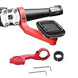 Koroao Sports Out Front Bike Handlebar Computer Mount For Garmin Edge 25 200 500 510 520 800 810 1000 GPS (red)