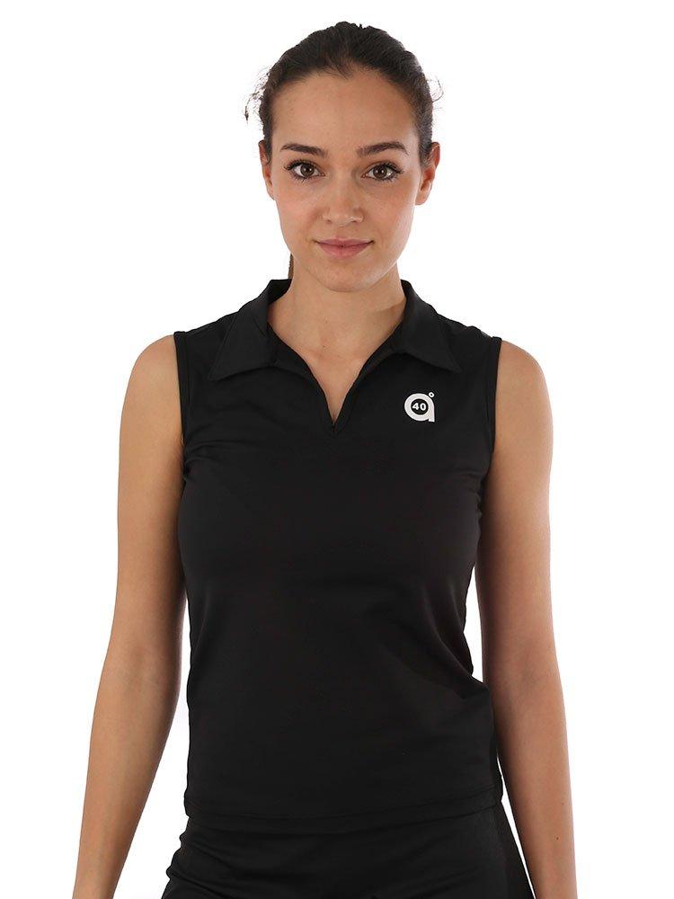 a40grados Sport & Style Blei Basic Polo Shirt Sisa, Damen, Damen, Plomo Basic