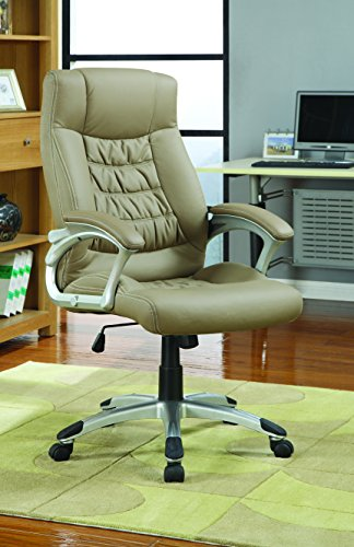 Coaster 800205 Contemporary Upholstered Executive Chair, Beige