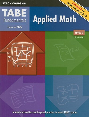 TABE Fundamentals: Student Edition Applied Math, Level D
