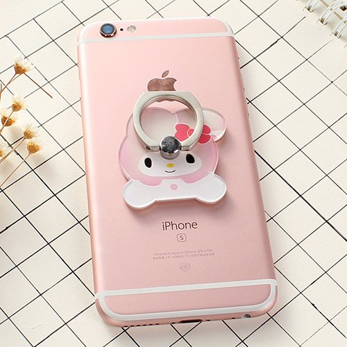 ZOEAST(TM) Bowknot Rabbit Bunny Melody Universal 360° Rotating Phone Buckle Tablet Finger Grip Ring Stand Holder Kickstand Phones Tablets iPhone 4 4S 5 5S 6 6S SE 7 Plus Samsung iPad iPod (Melody)