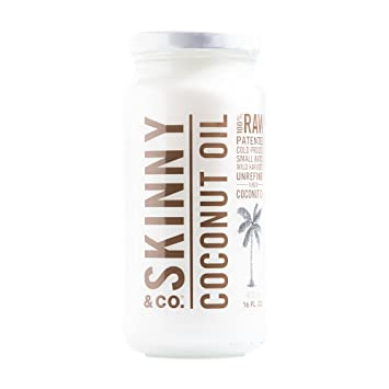 SKINNY and CO  100% Raw Virgin Skinny Coconut Oil for Skin and Hair and  Supplement (16 fl oz )