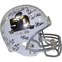 """1969 New York Jets Team Signed """"Super Bowl On The 50"""" Replica Helmet - Steiner Sports Certified - Autographed NFL Helmets"""