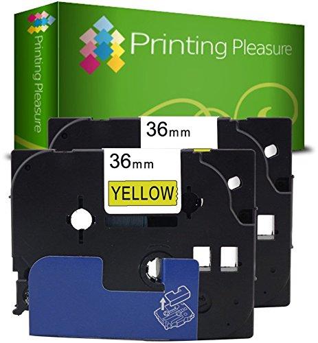 schwarz auf transparent Brother Original P-touch Schriftband TZe-161 36 mm f/ür Brother P-touch P3600,- 9600, -9700PC, -9800PCN