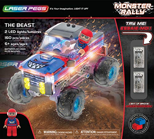 Laser Pegs The Beast Light Up Building Kit (160Piece) (Light Up Building Construction Set Laser Pegs)
