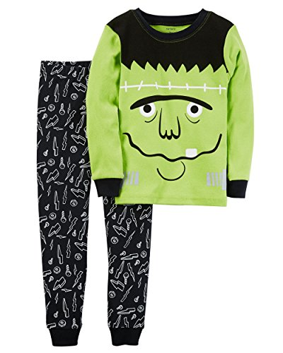 Carter's Boys' 5-12 2 Piece Glow-in-The-Dark Snug Fit Cotton Halloween PJs 4T