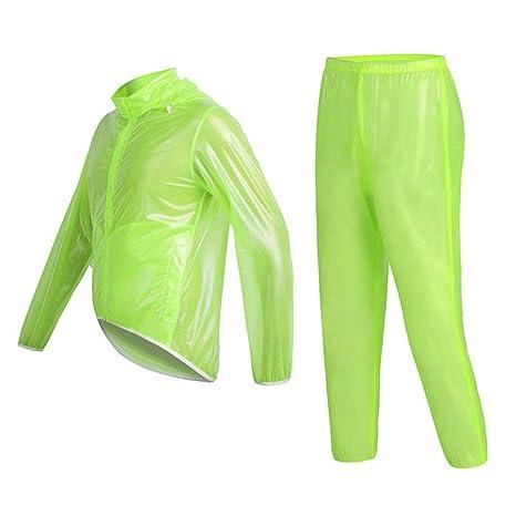 Impermeable transparente impermeable chaqueta y pantalón ...