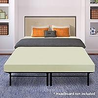 Best Price Mattress 6 Memory Foam Mattress and 14 Premium Steel Bed Frame/Foundation Set, Full