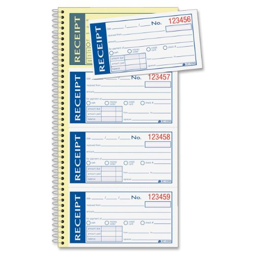 Adams Write n' Stick Receipt Book, White/Canary (ABFSC1152WS)