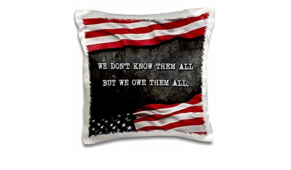 Amazon Com We Do Not Know Them All But We Owe Them All Veterans Patriotic Quote 18x18 Inch Pillow Case Sports Outdoors