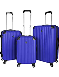 Travelers Club Luggage Chicago 3-Piece Expandable Spinner Luggage Set, Cobalt Blue, One Size
