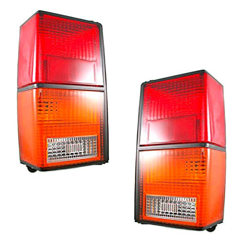 Rear Brake Taillights Taillamps Lights Lamps Pair Set for 84-96 Jeep -