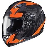 HJC Helmets CS-R3 Unisex-Adult Full Face Treague Motorcycle Helmet (Black/Orange, Small)