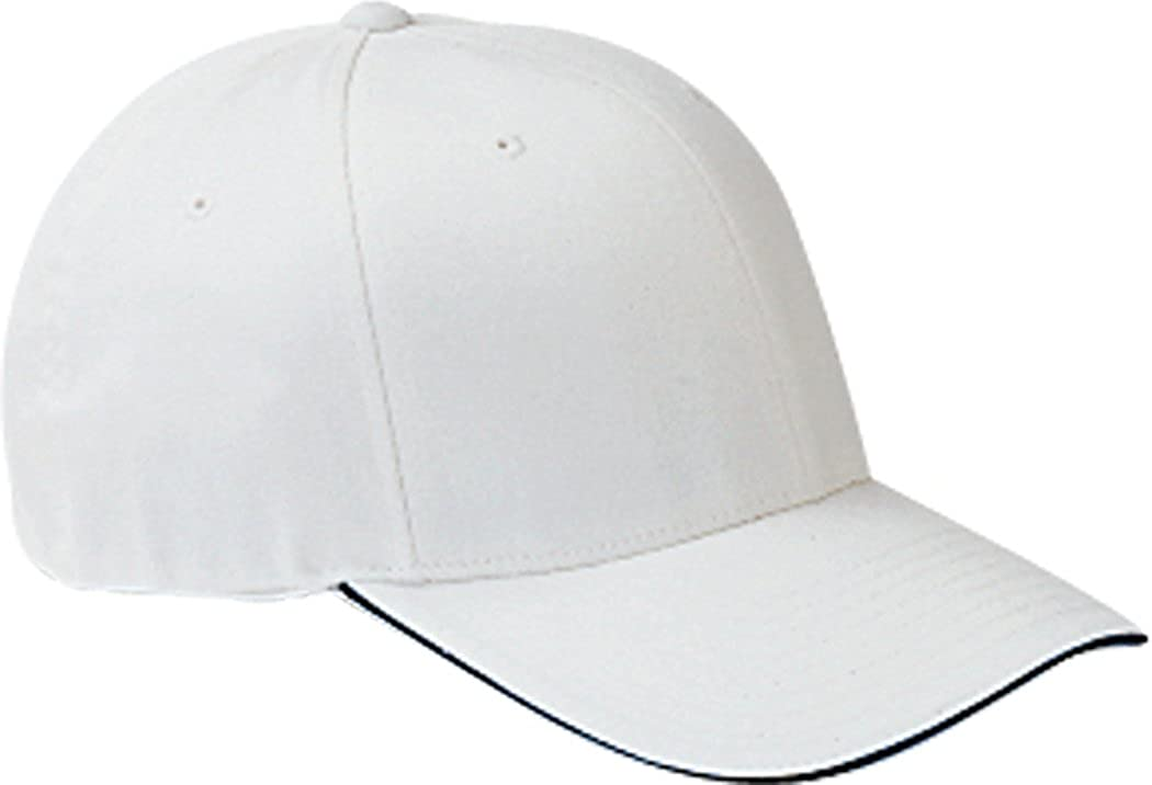 341991d3 Yupoong Flexfit Wooly Baseball Cap with Sandwich Bill 6277V white S-M