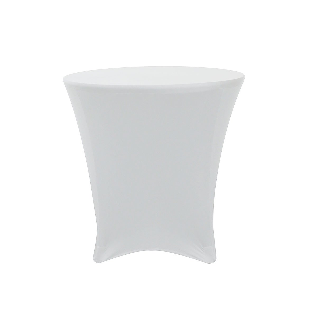 Your Chair Covers - 30 x 30 inch Lowboy Cocktail Round Stretch Spandex Table Cover White
