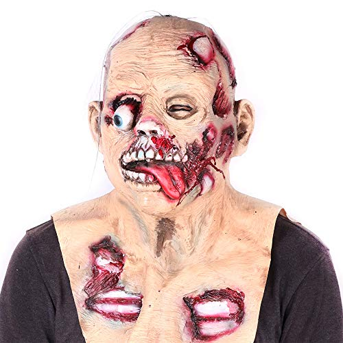 ALWONDER Halloween Mask Zombie Mask Biochemical Eyeball Scary Full Face Cosplay Costume Horror Theme Party Relastic Latex Prop Big for $<!--$15.99-->