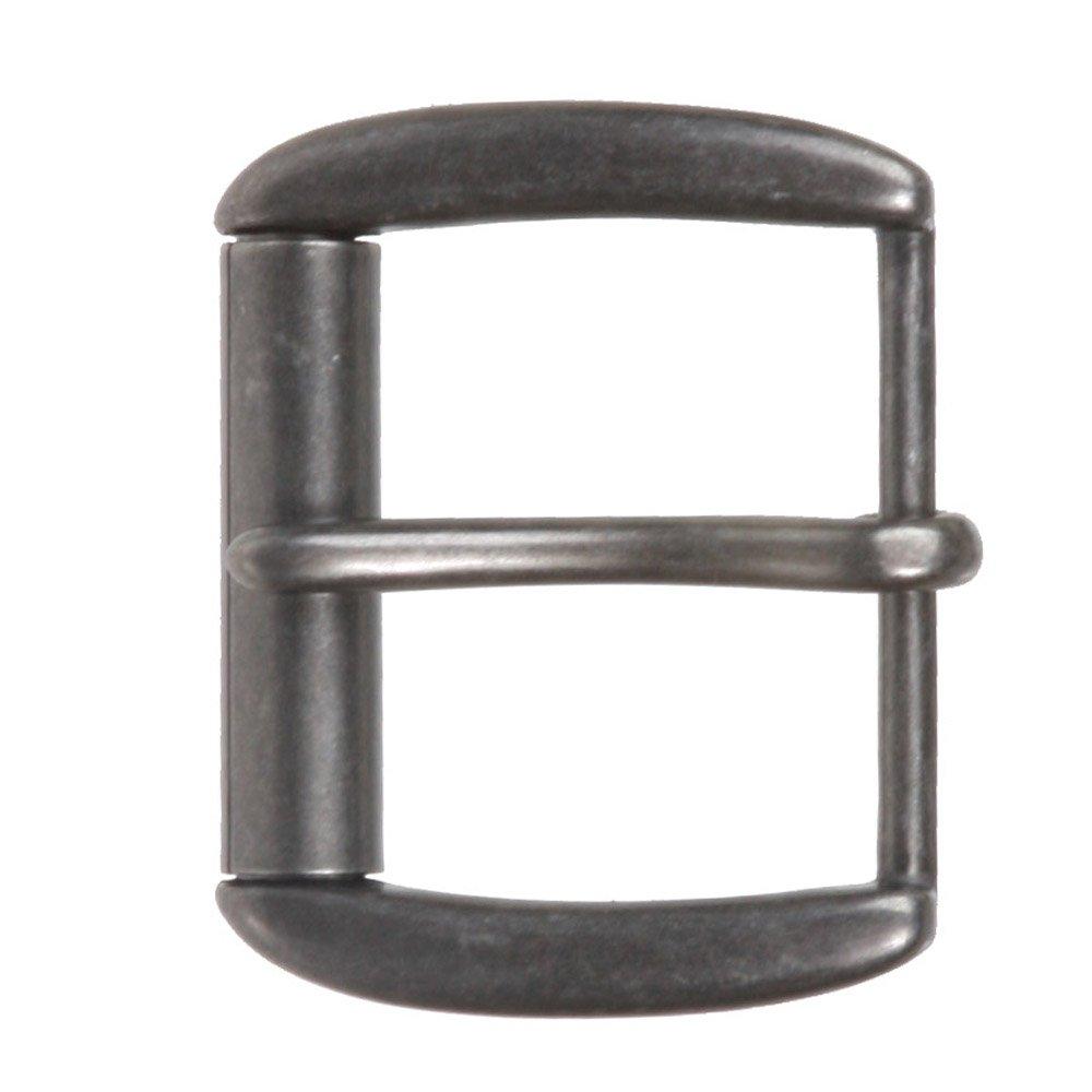 1 1/2 (40 mm) Nickel Free Single Prong Rectangular Roller Belt Buckle, Antique Silver Beltiscool 240440:A00E