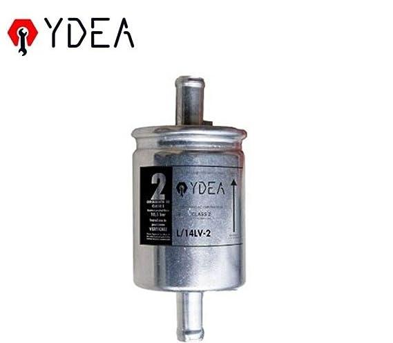 filtro de gas GPL en línea de montaje Vertical ydea L/14lv-2: Amazon.es: Coche y moto
