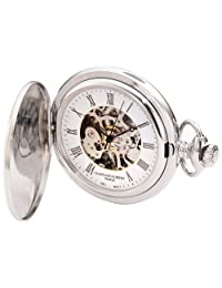 Charles-Hubert, Paris 3929 Premium Collection Stainless Steel Mechanical Pocket Watch