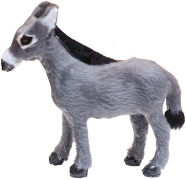 Cute Educational Science Toy Simulated Gray Donkey Model Toy For Children Gift
