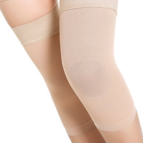 Spotbrace Medical Compression Knee Support, Elastic Thin Knee Brace Sleeve, Sports Non-Slip Leg Protective Gear for Joint Pain Recovery, Arthritis, Meniscus Tear - Nude, 1 Pair