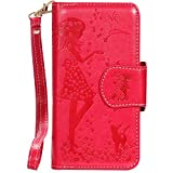 Samsung Note 9 Case,Galaxy Note 9 Wallet Case,FLYEE 9 Card Slots High Capacity PU Leather Magnetic Protective Cover with Mirror and Wrist Strap for Samsung Galaxy Note 9 Rose