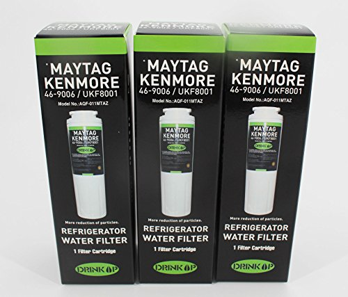 Price comparison product image UKF8001 Water Filter Replacement Maytag UKF8001 UKF8001AXX UKF8001P,  PUR Jenn-Air UKF8001,  EDR4RXD1,  Whirlpool 4396395,  EveryDrop Filter 4,  Puriclean II,  469006 (Pack of 3)