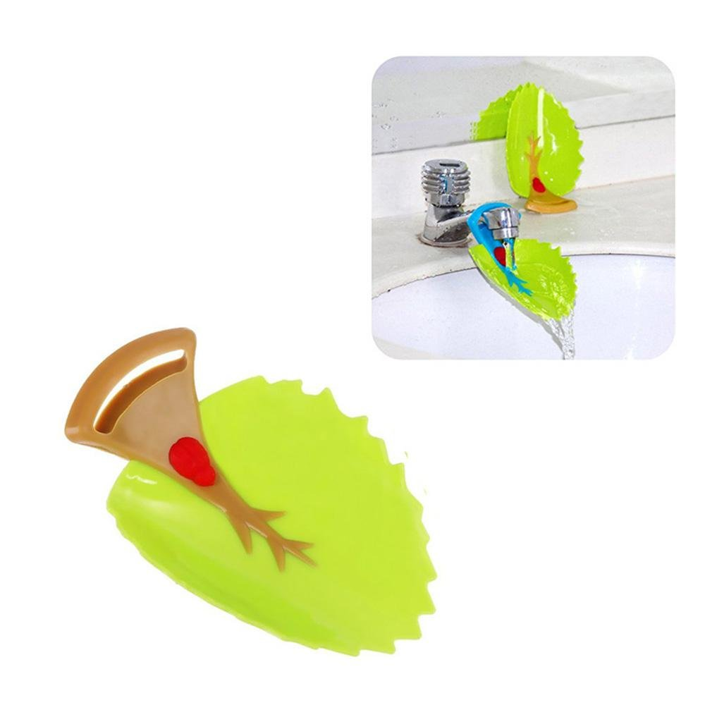 Leaf Faucet Extender, Kids Sink Faucet Extender, Bath Tub Faucet Cover Sink Handle Extension for Toddlers, Baby, Children AOLVO
