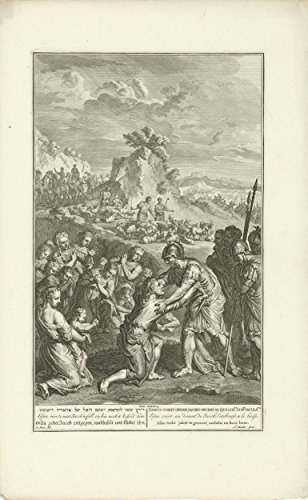 "Classic Art Poster - Reconciliation of Jacob and Esau, Joseph Mulder, 1720 - 1728 15"" x 24"""