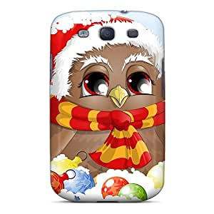 New Fashionable WonderTree UWLZe1763bnHPj Cover Case Specially Made For Galaxy S3(cold Christmas Owl)