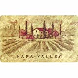Cushion Kitchen Mat Cushion Comfort Napa Valley Kitchen Mat, 18-Inch by 30-Inch