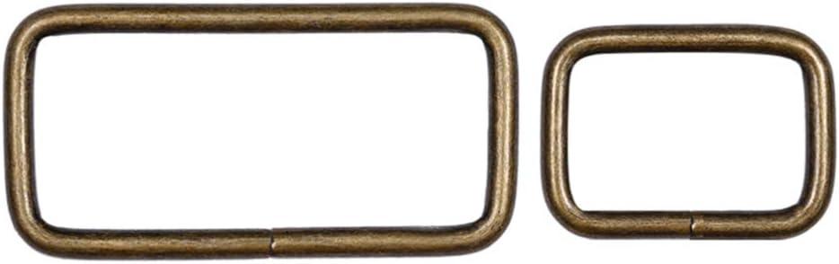Artibetter 20 st/ücke Bronze Metall rechteck Ring gurtband g/ürtel Schnalle f/ür f/ür g/ürteltaschen DIY