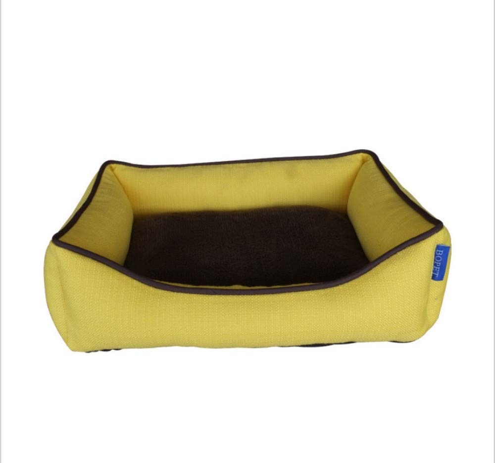 A 45X33X14CMGZDXHN Dog House Four Seasons Universal Kennel Outdoor TwoSided Flip Removable Kennel Waterproof Fabric Solid color Kennel Pet Nest Cat Nest P