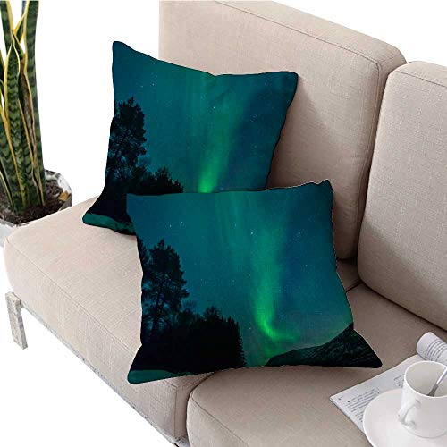 - longbuyer Cushion Cover Northern Lights Over Tower Bridge in London UK Cute Cushion Covers W 16