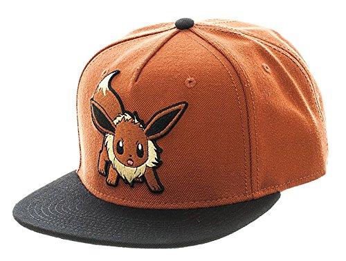 bioWorld Pokemon Eevee Brown Color Block Snapback Baseball Cap from bioWorld
