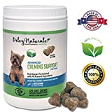 Deley Naturals, Dog Anxiety Support, 120 Chicken Soft Chews, Valerian Root and L-Tryptophan, Natural Calming for Dogs, Barking Dog, Made in USA Dog Treats, 100% Natural Supplement
