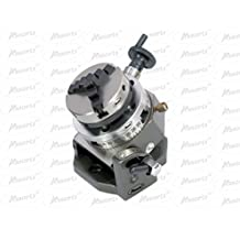"""3"""" Inches (75 mm) Tilting Rotary Table+ 65 mm 3 Jaws Self Centering Chuck+ Back Plate+ T-nuts"""