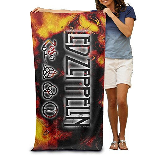 Price comparison product image HAOYANG Rock Music Led Zeppelin Beach Towel For Adults / 31.5'' * 51.2''
