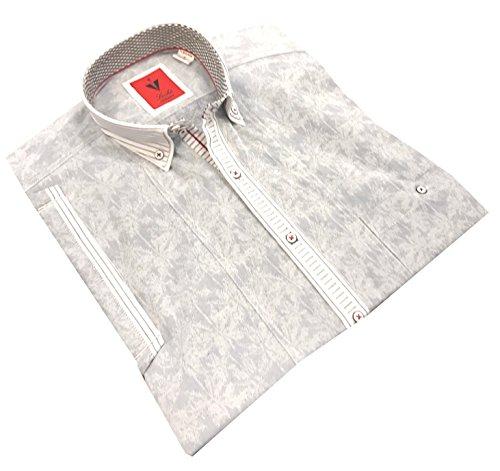 Leché Designerhemd in grau gemustert