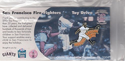 San Francisco Giants Marquis Grissom SF Firefighters Toy Drive Pin - Giants San Pins Francisco
