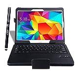 IVSO Samsung Galaxy Tab S 10.5 Keyboard case, Ultra-Thin DETACHABLE Bluetooth Keyboard Portfolio Case - Keyboard Stand Case / Cover for Samsung Galaxy Tab S 10.5 Tablet- With a Stylus Pen (Black)