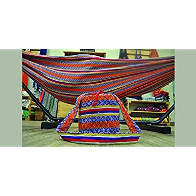 Telary X-Large Typical Colombian Double Hammock for Yard, Bedroom, Porch, Indoor/Outdoor, Portable. (Red) : Garden & Outdoor