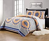 Mk Collection 3pc King/California King Bedspread Quilt Over - Best Reviews Guide