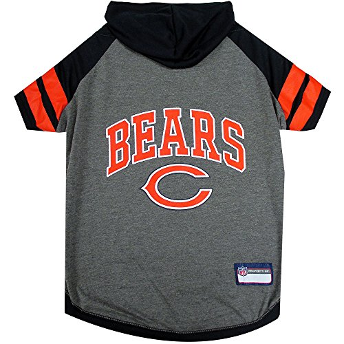 Picture of NFL Chicago Bears Hoodie for Dogs & Cats. | NFL Football Licensed Dog Hoody Tee Shirt, Large| Sports Hoody T-Shirt for Pets | Licensed Sporty Dog Shirt.