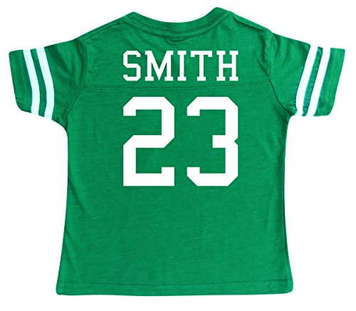 Football Jersey Boys Shirt - Custom Football Sport Jersey Toddler & Child Personalized with Name and Number (5/6, Vintage Green)