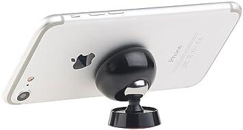 Callstel Handyhalterung Magnet: Universal-Smartphone-Magnethalterung aus Vollmetall, 360°-Gelenk (Magnethalter Handy)