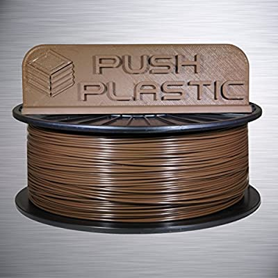 Push Plastic 1.75mm Brown PLA 3D printer filament 1kg (2.2 lbs)