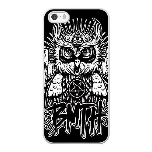 Coque,Apple Coque iphone 5/5S/SE Case Coque, Generic Bring Me The Horizon Owl Cover Case Cover for Coque iphone 5 5S SE blanc Hard Plastic Phone Case Cover