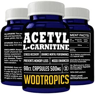 Acetyl-L-Carnitine Capsules to Enhance Focus, Combat Aging, and Improve Memory - ALCAR Nootropic for Increasing Cognitive Performance by WodTropics, 100%